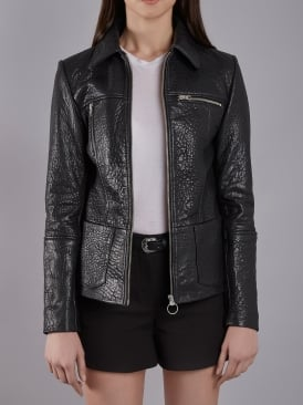 Rhode Black Bubble Leather Jacket