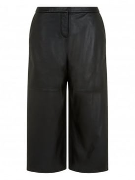 Riley Black Leather Culottes
