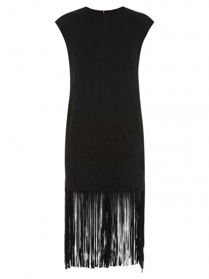 Sorel Black Fringed Suede Dress