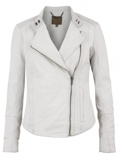 Syrma Leather-Salmon Biker Jacket in Polo