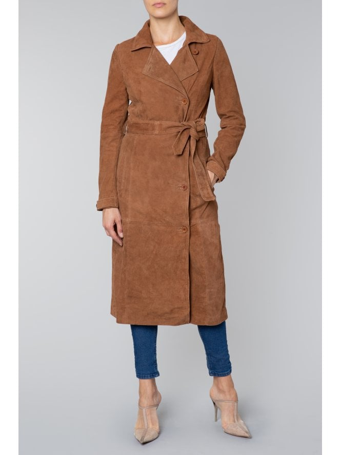 Tiree Suede Trench