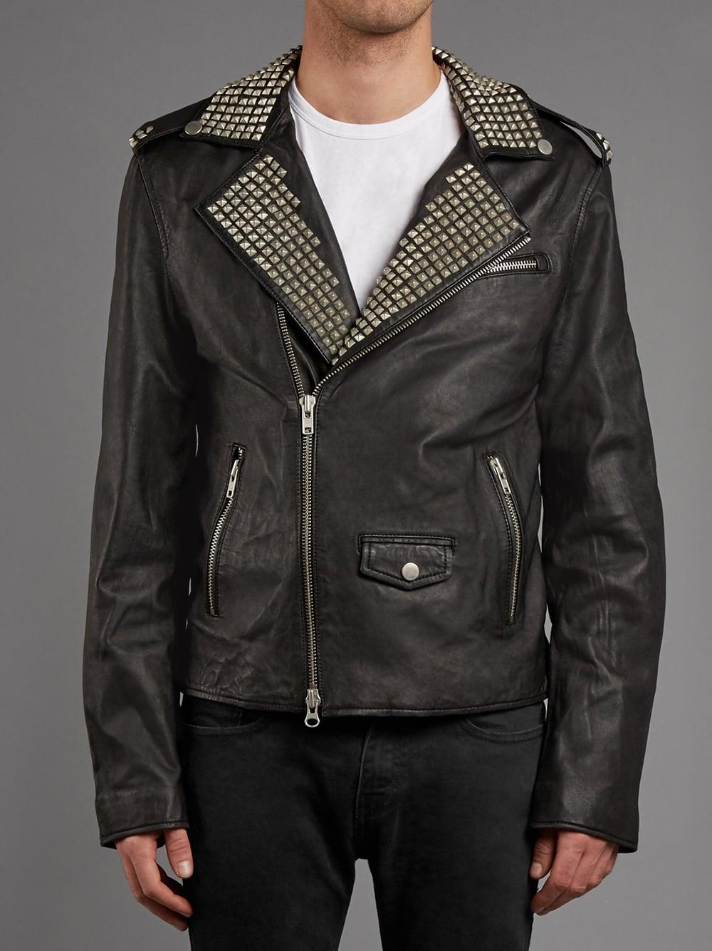 8b8ea544fc3c Vortic Studded Leather Biker Jacket in Black - SHOP WOMEN from Muubaa UK