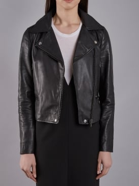 Zagato Black Leather Biker